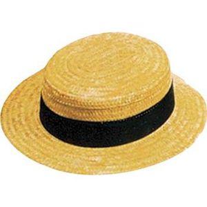 6635fda0a8c7 Canotier paille luxe adulte t57 - Achat   Vente chapeau - perruque ...