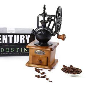 COMBINÉ EXPRESSO CAFETIÈRE Style rétro Burr Coffee Broyeur Main Broyage Machi