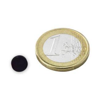AIMANTS - MAGNETS Disque Ø  8 x  2mm Ferrite Y30 sans placage adhére