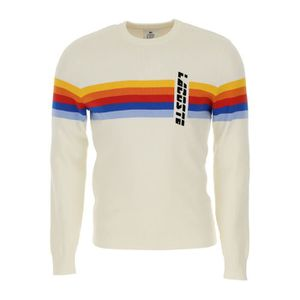 881636b2d8 PULL LACOSTE HOMME AH37568ZX BLANC COTON MAILLE
