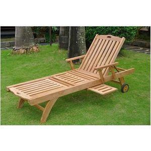 Bain de soleil Palma en teck haut de gamme - Achat   Vente chaise ... df7c8775eda7