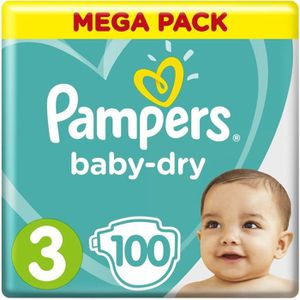 COUCHE Pampers Baby-Dry Taille 3, 6-10 kg - 100 Couches -