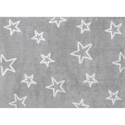Tapis chambre enfant et bébé étoiles gris lavable 120x160 cm ...
