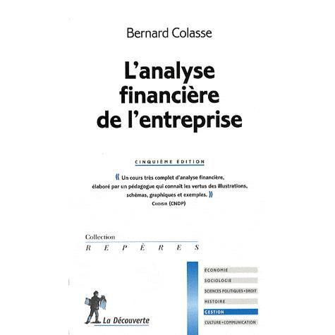 LIVRE COMPTABILITÉ L'analyse financière de l'entreprise