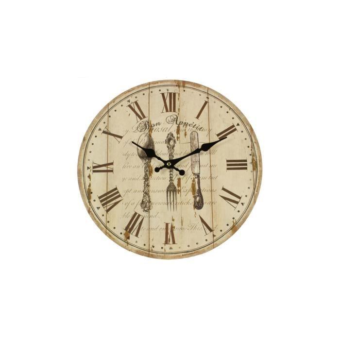 horloge ancienne murale bon appetit 34cm achat vente. Black Bedroom Furniture Sets. Home Design Ideas