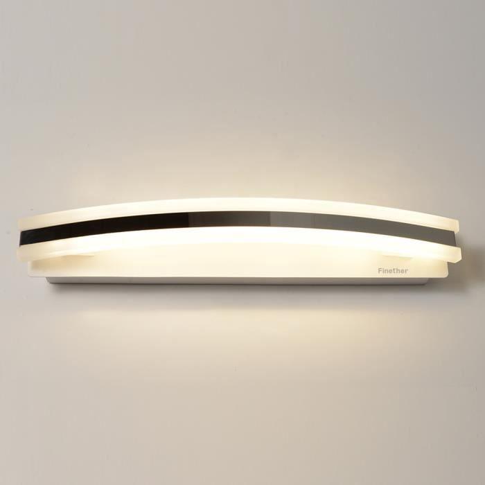 Finether 8W 40pcs SMD2835 Lampe pour Salle de Bain Miroir Blanc
