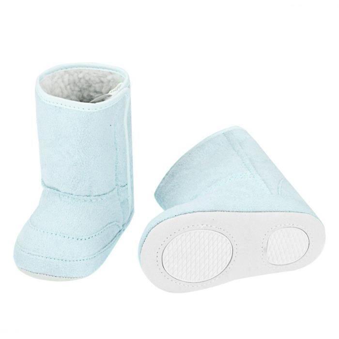 Bébé botte de neige occasionnels anti-dérapants doux chaud courte mignon taille 22 pour 9-12M couleur bleu