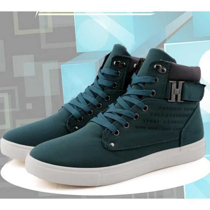 Pure Color Vintage Casual bout rond Chaussures ...