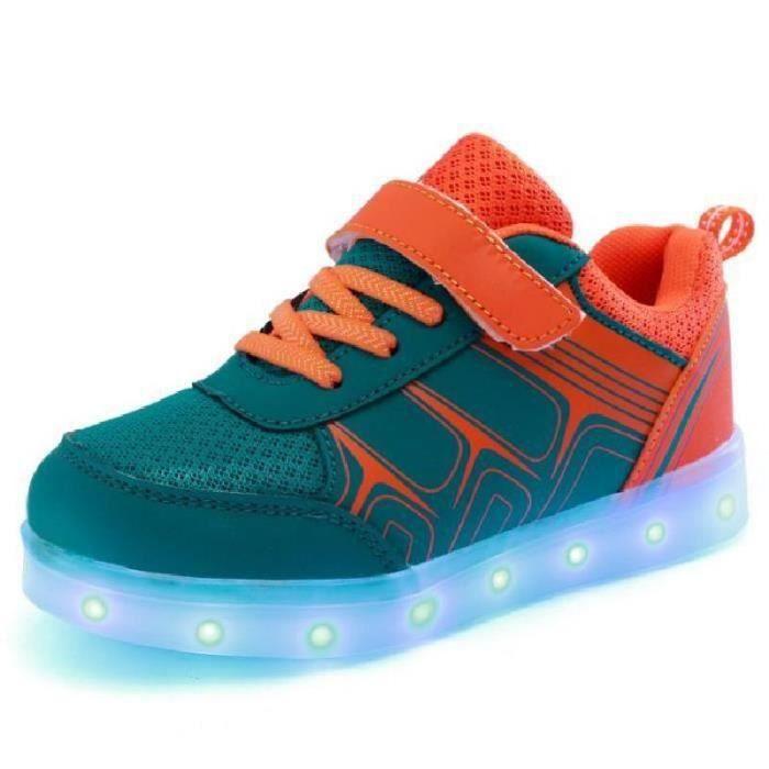 SHELOVEIT® Flash LED lumineux chaussures de sport enfants ... MnS0A