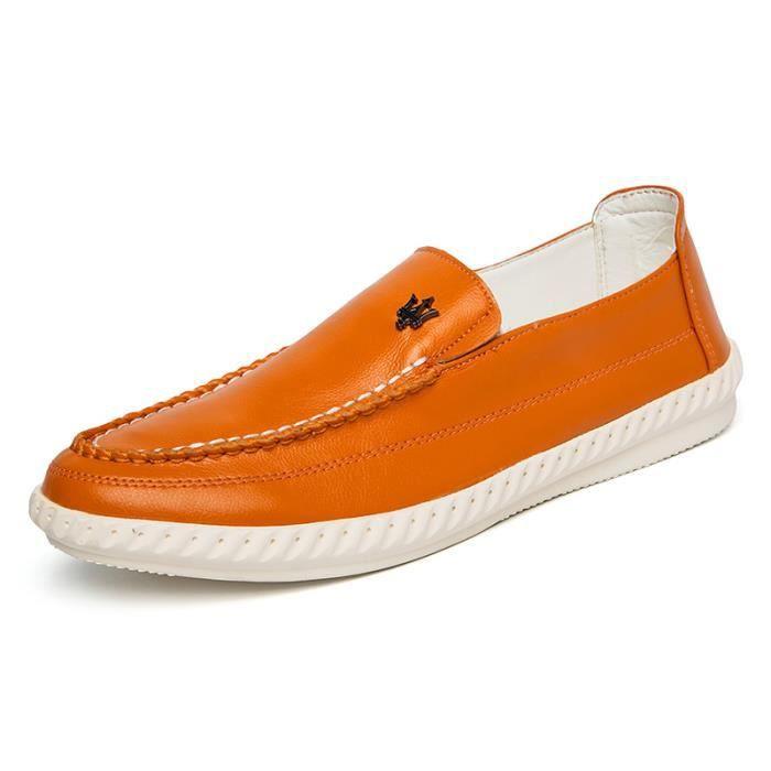 Casual Homme Mocassins cuir Chaussure Business Chaussure Pois confortable, perméable à l'air