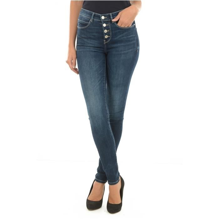 Jean Skinny Stretch Taille Haute W73a28 1981 Guess Jeans Femme Bleu