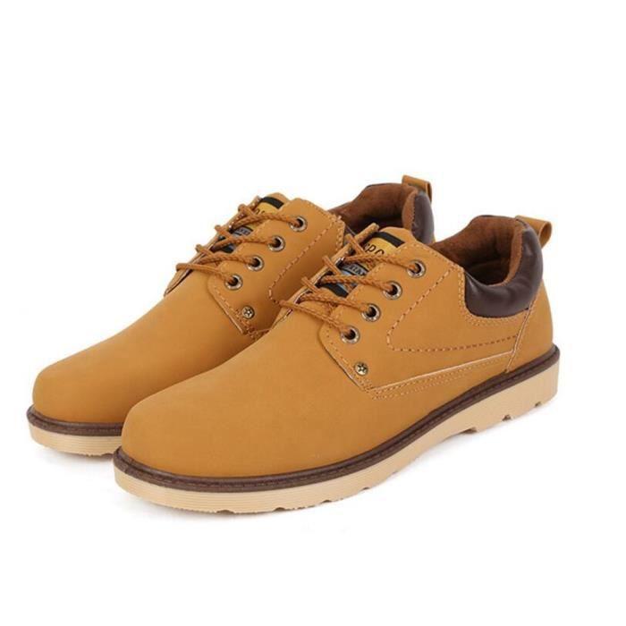 Sneakers hommes Durable 2017 ete chaussure randonnee Haut qualité Antidérapant Durable de plein air marron Grande Taille 41