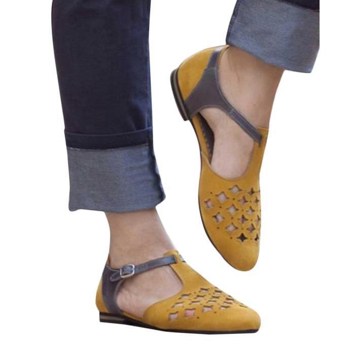 SANDALE - NU-PIEDS Tomwell Femmes Sandales Été Mode Sandale Chaussure