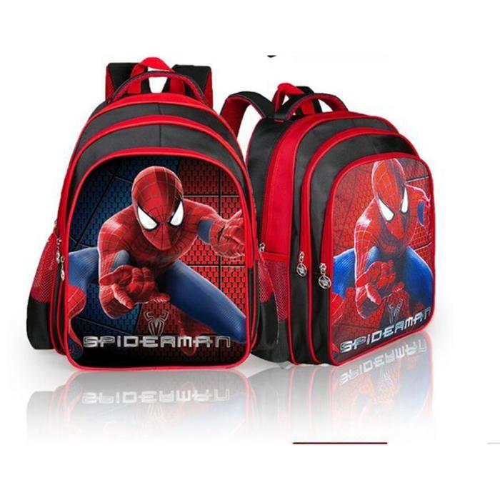 Dessin animé Spiderman Sacs à dos pour les sacs scolaires d'enfants d'enfants primaire Sac à dos Boy