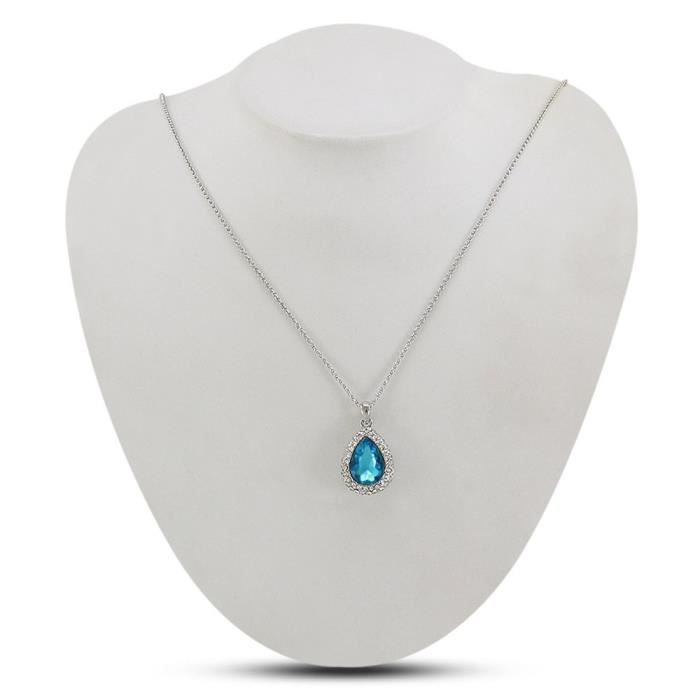 Womens Simple Classic Look Platinum Plated Alloy Pear Shape Pendant For &FA31A
