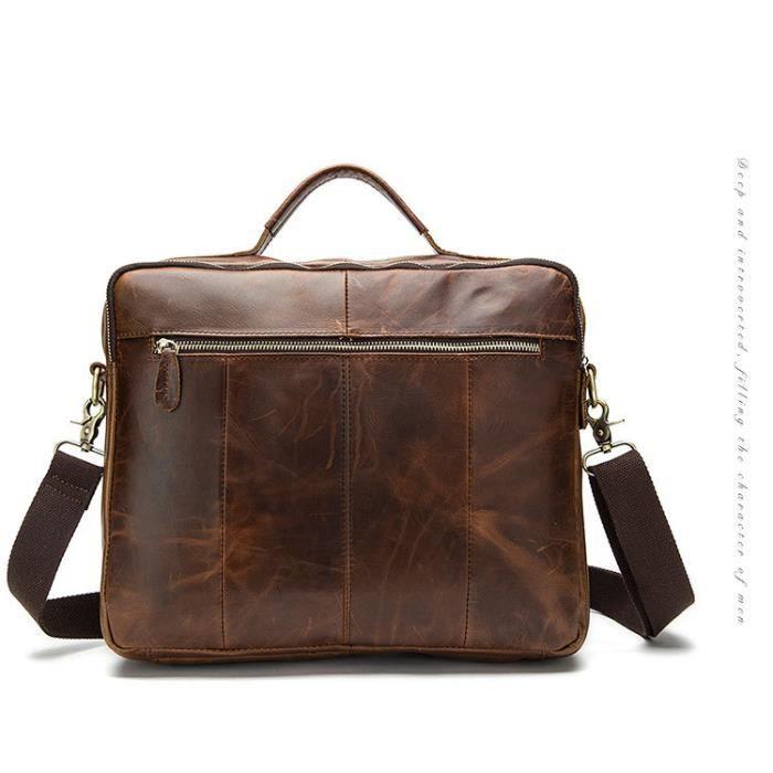 100% authentique des hommes en cuir sacs à main des daffaires décontractée dépaule