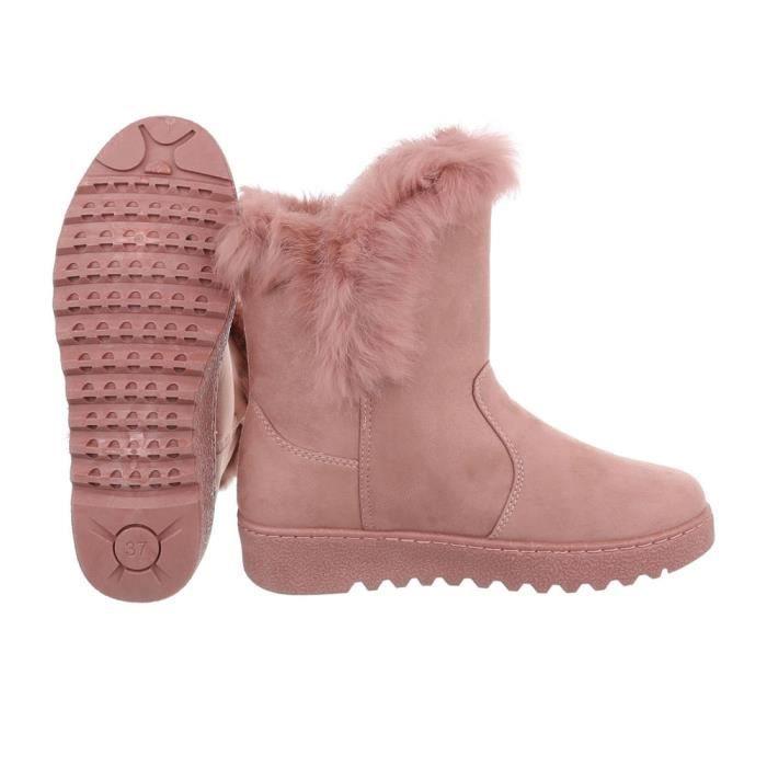 femmes hiver bottillon | hiver bottes doublé | épais doublée Bottes de neige | Art fourrure hiver Boots | Art fourrure bottes |