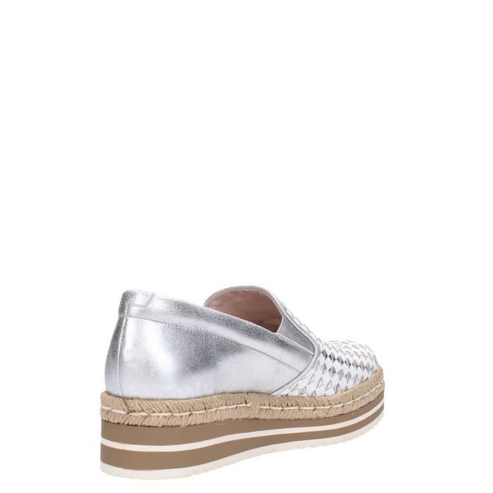 Pons Quintana Slip On Femme Metal Silver, 40