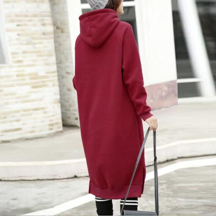 ZANZEA Femmes Long Sweats Robe
