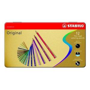 STABILO Original - Boîte métal - lot de 12 crayons de couleur