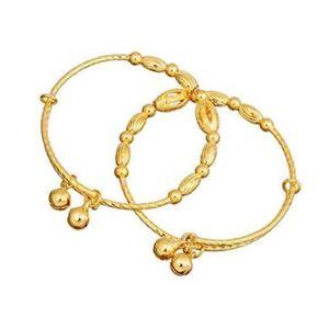 BRACELET - GOURMETTE  Bracelet pour bébé Plaqué or 24 carats Bracelet e