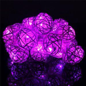 GUIRLANDE D'EXTÉRIEUR 20 LED rotin boule corde lumière maison jardin fée