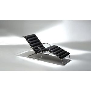 chaise chaise longue mies van der rohe en fleur de cuir n - Chaise Longue Cuir