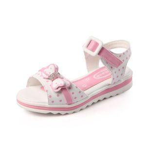 SANDALE - NU-PIEDS Cuir Enfant sandales Fille chaussures Velcro