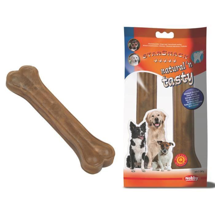 NOBBY Os à mâcher 21,5cm - 2 pièces - 340g - Pour chien