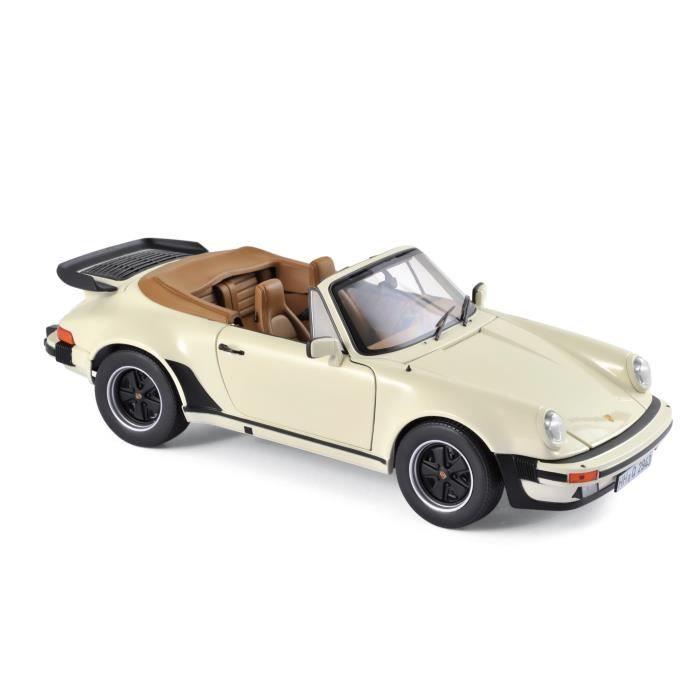 NOREV Auto modélisme Porsche 911 Turbo Cabriolet 1987 - Echelle 1:18 - Ivoire