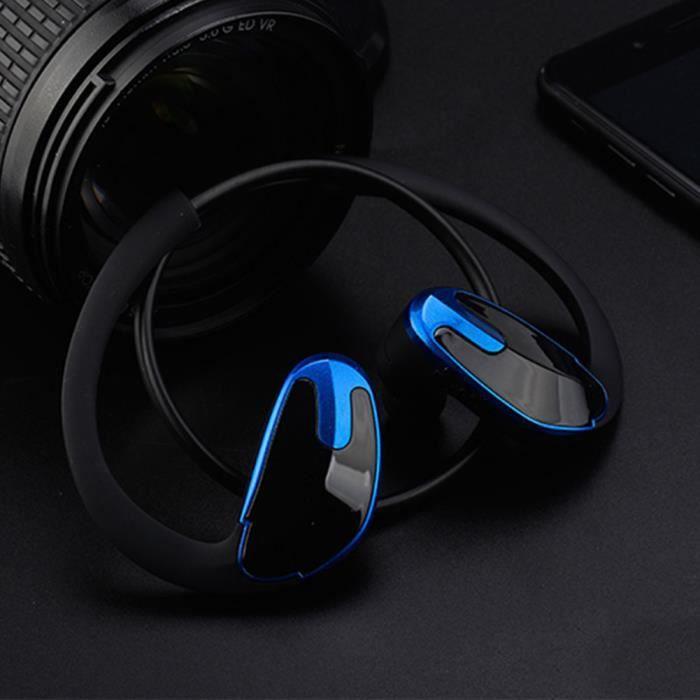 Sport Écouteurs Casque Mode Mains Libres R8 Vocales Pc -bleu