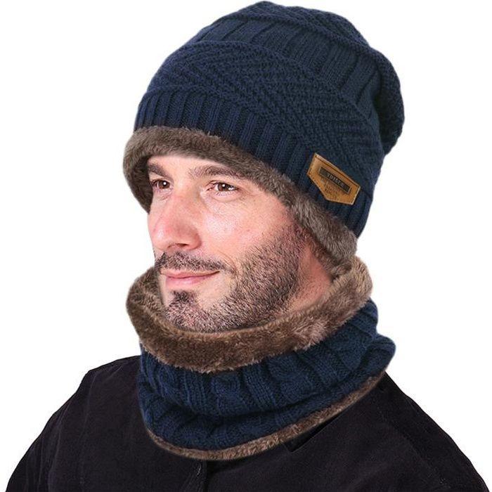 ba9a39fb1dd34 Ensemble bonnet echarpe gant homme - Achat   Vente pas cher