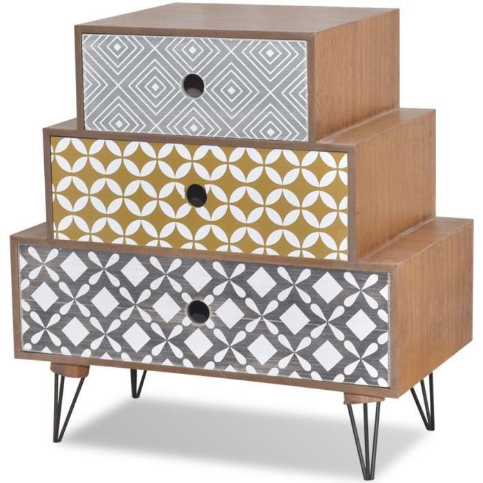 chevet de lit scandinave achat vente chevet de lit scandinave pas cher cdiscount. Black Bedroom Furniture Sets. Home Design Ideas