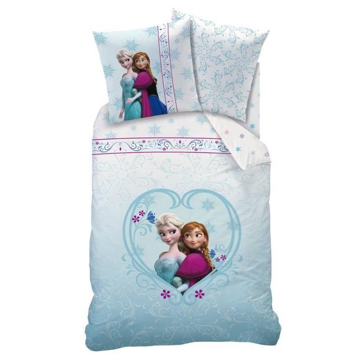 linge de lit reine des neiges 90x190 - achat / vente linge de lit