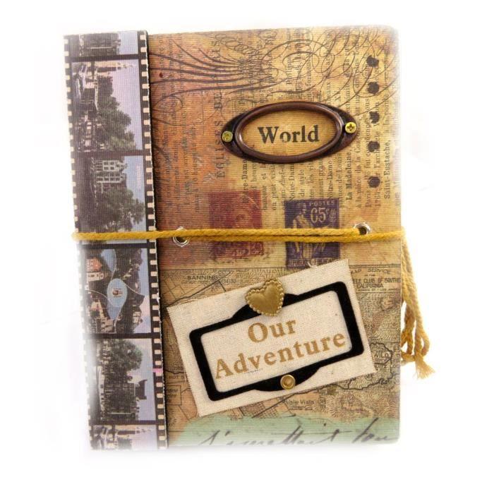 carnet de voyage world vintage achat vente cahier. Black Bedroom Furniture Sets. Home Design Ideas