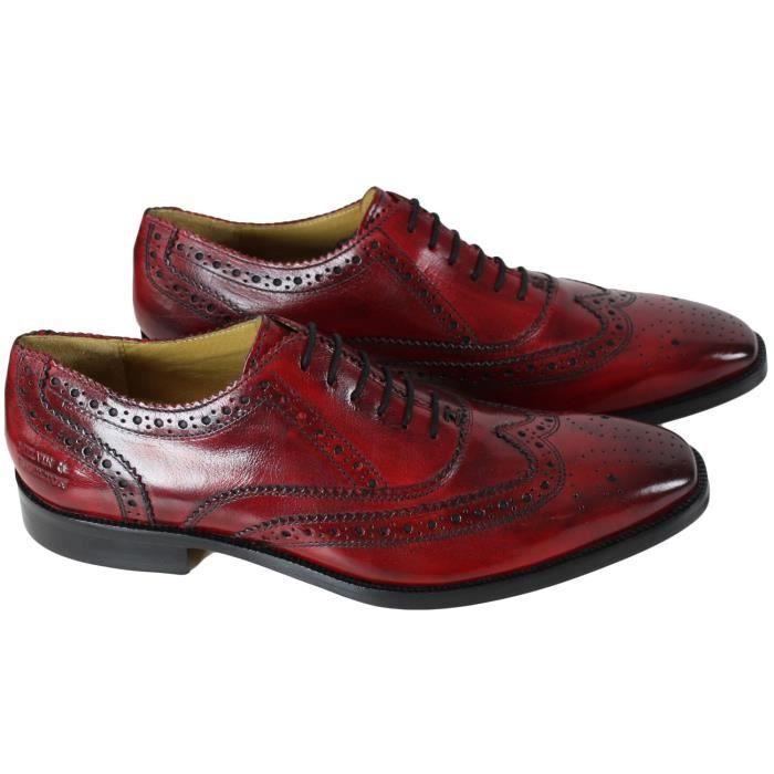57547d8e8ce58d Chaussure en cuir Melvin & Hamilton Jeff 11 Rouge - Achat / Vente ...