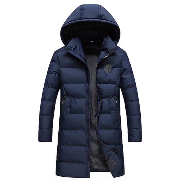 Manteau long homme bleu