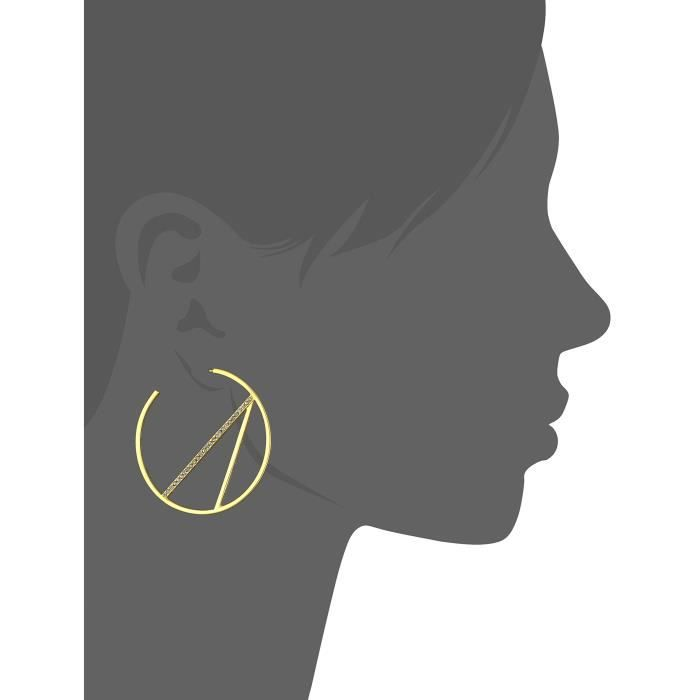 Scarlett Collection Shiny Gunmetal With Pave Hoop Earrings QVMR5