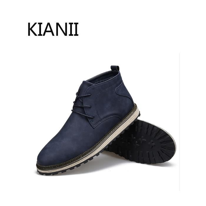 Homme Chaussures Coton Chaud Hiver Hiver Bottine Homme Bottine Bleu gXxBqd0q