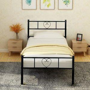 STRUCTURE DE LIT Aingoo Lit 90x190 en métal ,cadre de lit avec un g