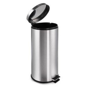 POUBELLE - CORBEILLE poubelle acier inoxydable 30L  peut le pied pédale