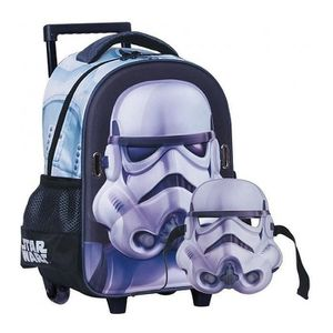 CARTABLE Sac à roulettes trolley maternelle Star Wars Troop