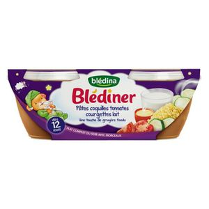PURÉES DE LÉGUMES BLEDINA Blédîner Pâtes coquilles tomates courgette