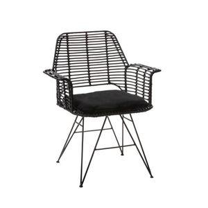 fauteuil rotin et metal achat vente pas cher. Black Bedroom Furniture Sets. Home Design Ideas