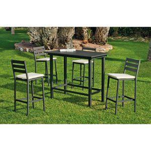 Table bar salon de jardin - Achat / Vente pas cher