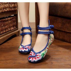BALLERINE Ballerines Chaussure  Femme, chaussures Rétro Bleu