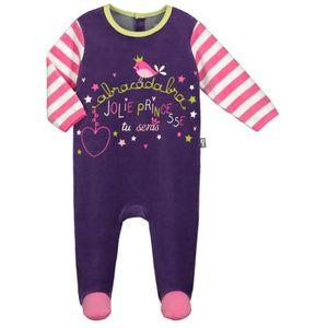 1336fe653e026 PYJAMA Pyjama bébé velours Mon Château - Taille - 36 mois