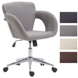 CHAISE DE BUREAU CLP Chaise de bureau EDISON en tissu, fauteuil de