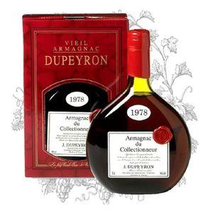 DIGESTIF EAU DE VIE Armagnac Dupeyron millésime 1978 Armagnac 70 cl -