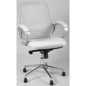 CHAISE DE BUREAU Chaise de bureau en tissu coloris gris, sans appui